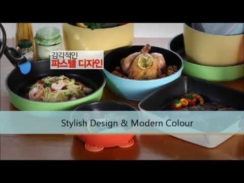 ★2012 Quick Click Ceramic Cookware w Interchangeable Handle