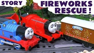 Thomas & Friends Fireworks Rescue Toy Trains Episode - Train Toys for Kids Play - ToyTrains4u