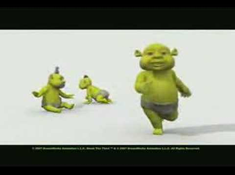 EXCELENTE VIDEO DONDE LOS BEBES DE SHERK SE ENTUCIASMAN BAILANDO LA CAMISA RAYADA.