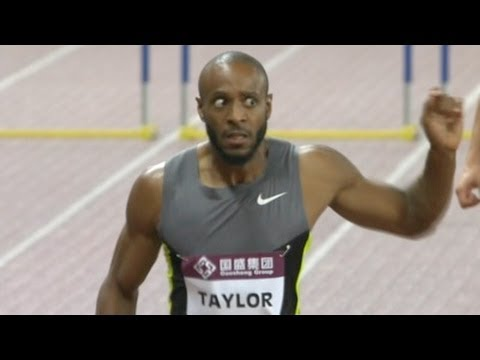Angelo Taylor wins first DL 400m hurdles  - Shanghai Diamond League 2012
