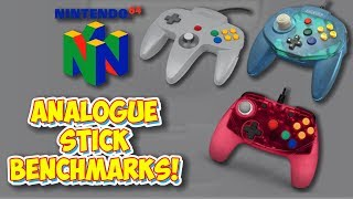 Nintendo 64 Analogue Stick Benchmarks! Sensitivity & Precision In Controllers!