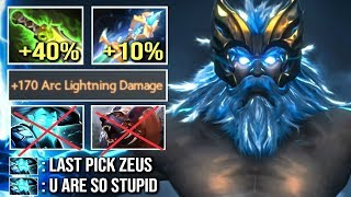 EPIC 1 Sec 470 Damage Arc Shotgun Zeus vs Storm + Ursa Anti Counter Build WTF Dota 2