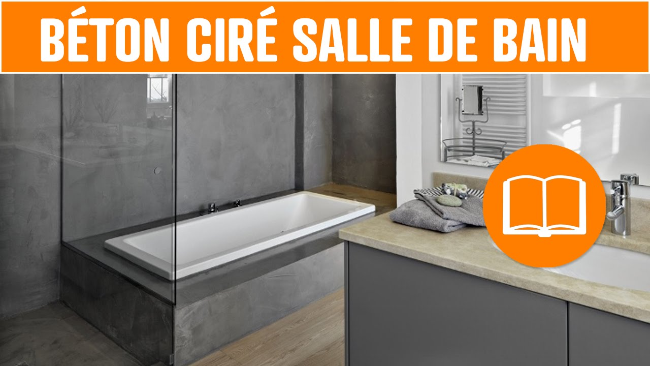 D co b ton cir salle de bain sol mur douche design youtube for Mur salle de bain beton cire