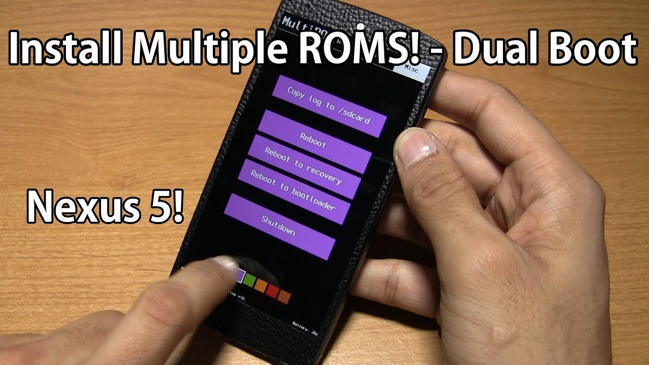 [DUAL BOOT] Cara Dual Boot OS Di Nexus 5