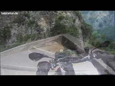 Gardasee 5. Fahrt durch die Brasa-Schlucht