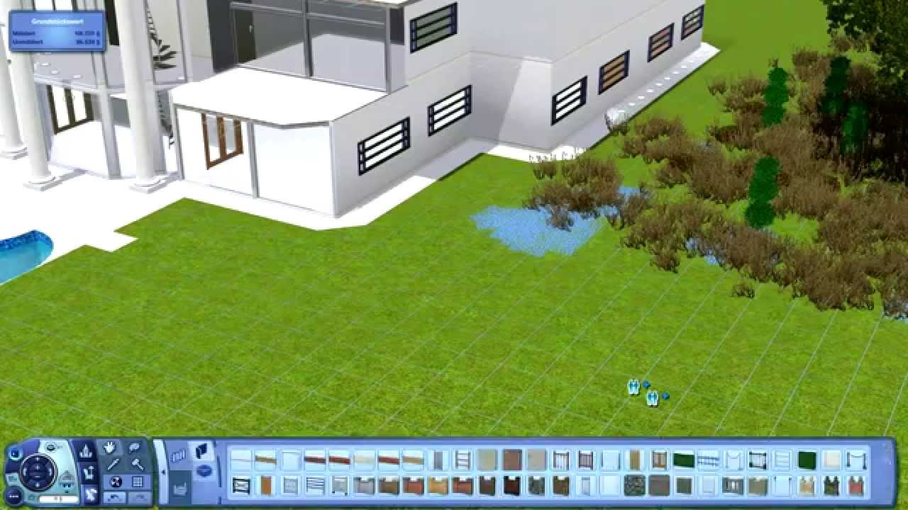 Sims 3 haus bauen 4 villa mit pool pool mansion youtube for Haus bauen preiswert
