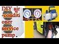 Air conditioner service pump