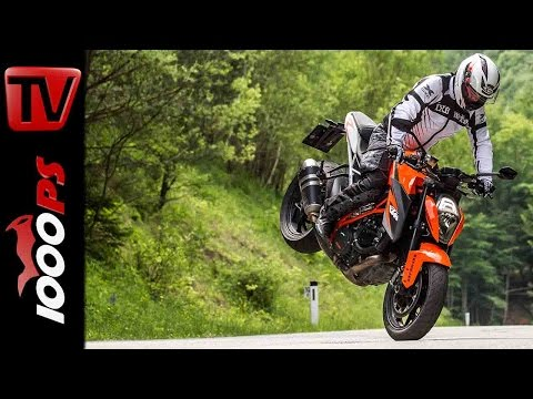 KTM 1290 Super Duke Stunts   StuntFriday Action   Wheelie Stoppie Drift