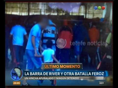Enfrentamiento entre barras de River: imagen clave -Telefe Noticias