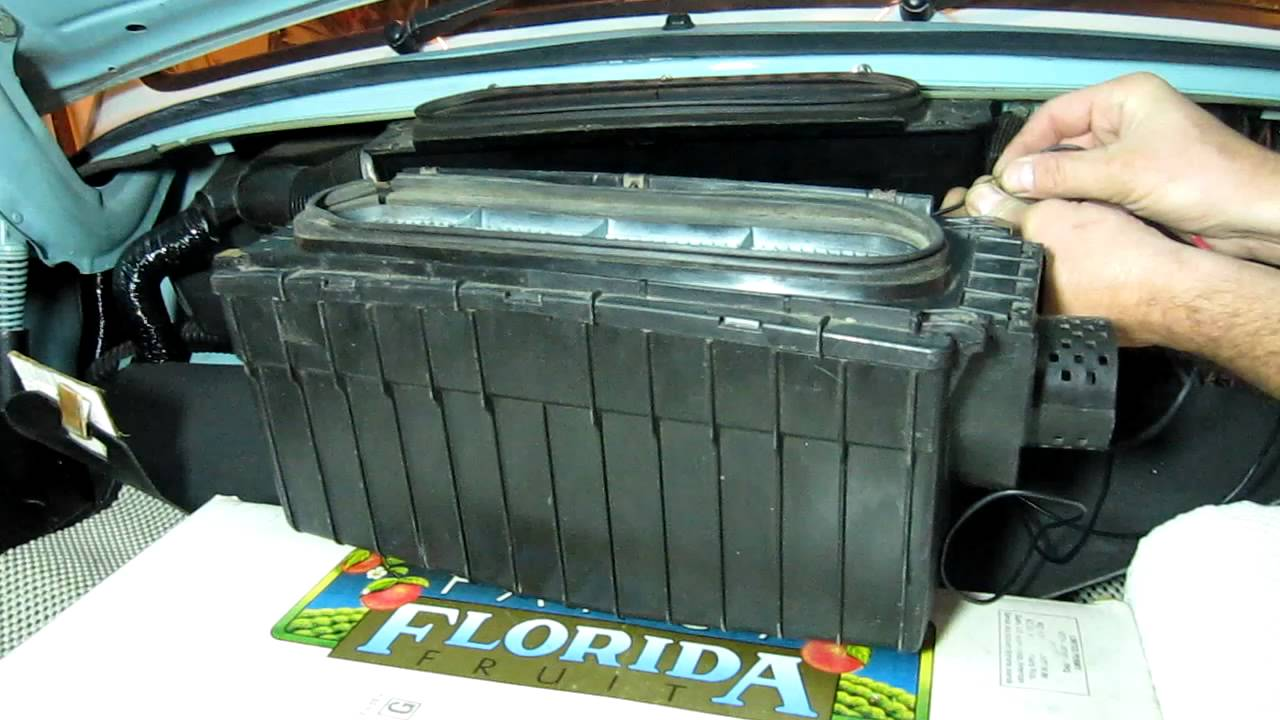 Vw Super Beetle Fresh Air Fan Box 233 Youtube