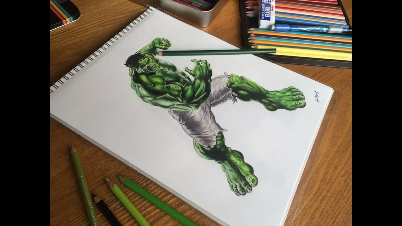 Drawing The Hulk Time-lapse