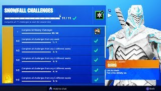 "NEW ""Snowfall Challenges"" SKIN UNLOCKED! - Unlock FREE Season 7 Skins! (Fortnite Snowfall Skin)"