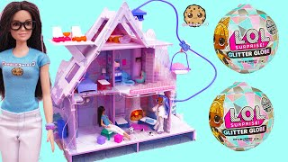 Cookie Barbie + Blind Bags at OMG LOL Surprise Winter Disco Chalet House