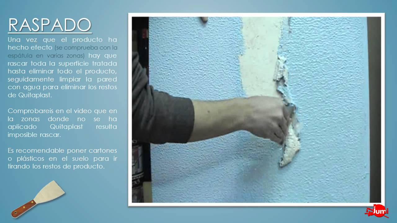 Quitaplast eliminador de gotel y picado youtube - Alisar paredes gotele pintura plastica ...