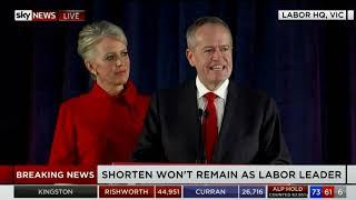 Australian Federal Election 2019- May 18, 2019- Bill Shorten Concession Speech