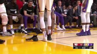 LeBron James Trolling Brandon Ingram Tying His Shoes!