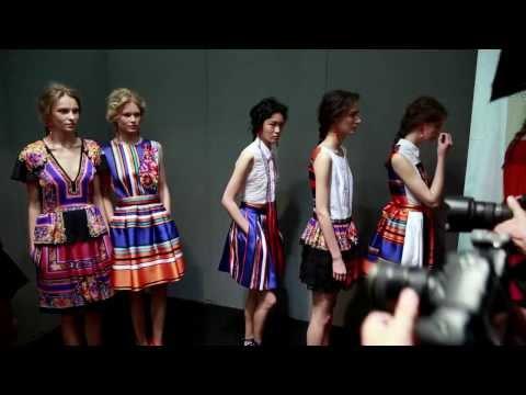 Backstage Alberta Ferretti Fashion Show Spring/Summer 2014