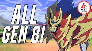 NEW INFO + DETAILS FOR ALL GEN 8 POKEMON SO FAR! Pokemon Sword New Pokemon + Legendaries
