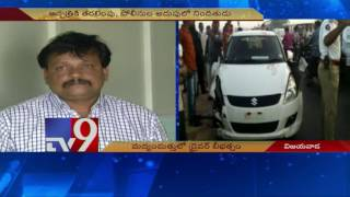 Vijayawada accident : Car driver admits to being drunk - TV9