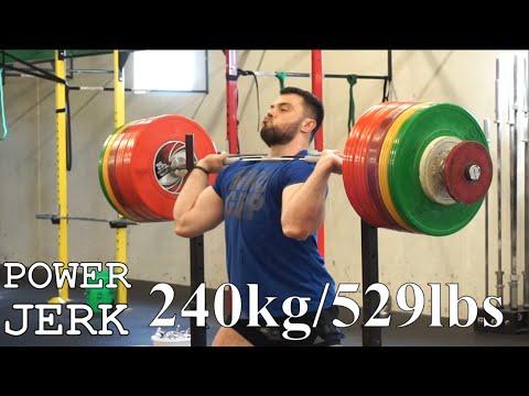 Power JERK 240 kg or 529lbs / A.TOROKHTIY