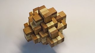 3d puzzle bamboo pineapple - solving