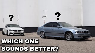 Does a 17 Year Old BMW M5 Sound Better Than A BRAND NEW BMW M3? *EXHAUST BATTLE*
