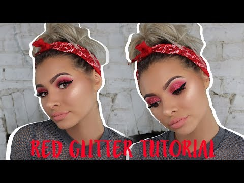 download lagu Red Glitter Eyes Tutorial  Talia Mar gratis