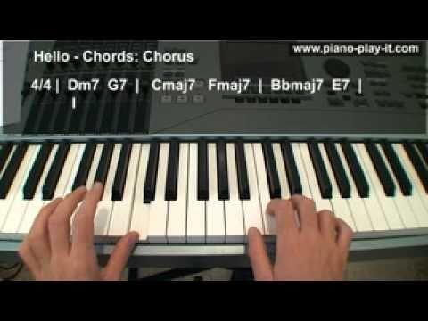 Lionel Richie Hello Piano Tutorial