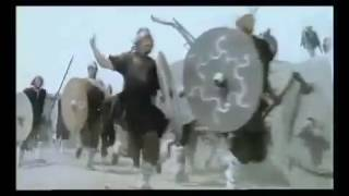 Viking battering ram attack on Saxon-held fort
