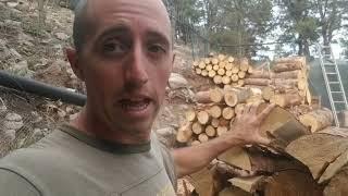 Firewood: Why I Won't Buy A Splitter, Won't Split My Wood,  Or Use Kindling
