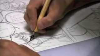Takeshi Obata Drawing a Manga Page from Bakuman [ REAL SPEED ]