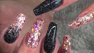 Acrylic nails - redesign with glitter