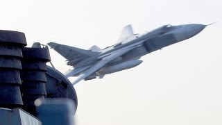 Russian Jets Buzz Over U.S. Navy Destroyer USS Donald Cook