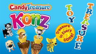 Candy Treasure Konz | Surprise Chocolate Cream Cones with Toy Surprise | Collectible Toys