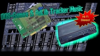 DOS-games and AdLib Tracker Music (Hi-Fi Stereo)