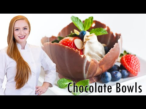 How To Make Chocolate Dessert Bowls - Valentine s Day Dessert