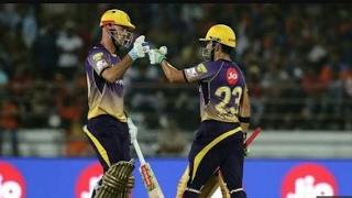 Chris Lynn and gautam gambhir breaks every single piece of Gujarat Lion's|| KKR vs GL