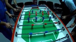 Table football (soccer) lucky trick shot!