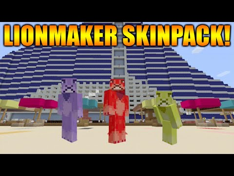 ★Minecraft Xbox 360 + PS3: Cool New Custom LionMaker Skinpack Theme + ModernHD Texturepack Showcase★