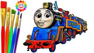 How to DRAW  RESCUE Train BELLE from Thomas and Friends Trains for Kids