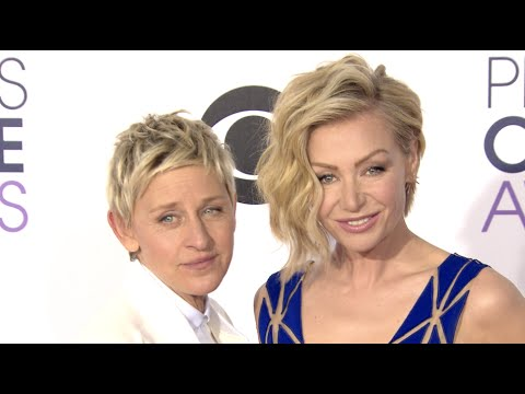 Ellen DeGeneres, Portia de Rossi, and others at the People's Choice Awards 2015