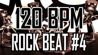 120 BPM - Rock Beat #4 - 4/4 Drum Beat - Drum Track