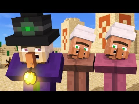 Villager & Witch Life 4 - Alien Being Minecraft Animation