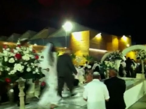 Raw: Rocket Explodes Over Israeli Wedding