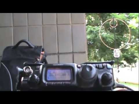 QRP - QSO with Magnetic Loop Antenna