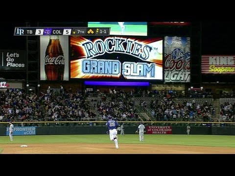 TB@COL: Arenado smacks a grand slam to center field