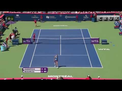 Maria Sharapova great points in Montreal 2014