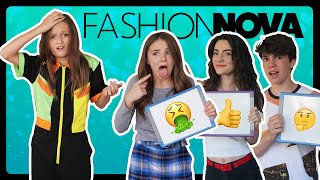 My Crush RATES My Fashion Nova Outfits **REACTION CHALLENGE**| Sophie Fergi Piper Rockelle