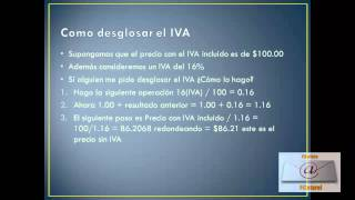 Como desglosar el IVA