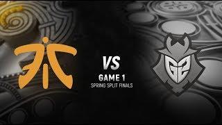 FNC vs. G2 | Final Game 1 | EU LCS Spring Split | G2 Esports vs. Fnatic (2018)